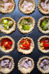 mini quiches with fillings